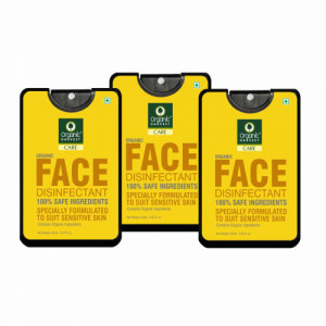 Organic Harvest Face Disinfectant Mist, 20ml (Pack Of 3)