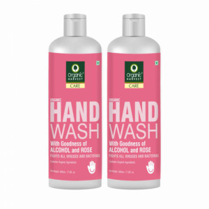 Organic Harvest Rose Hand Wash, 500ml (Pack Of 2)