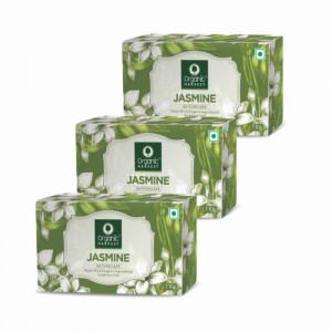 Organic Harvest Jasmine Bathing Bar, 110gm (Pack Of 3)