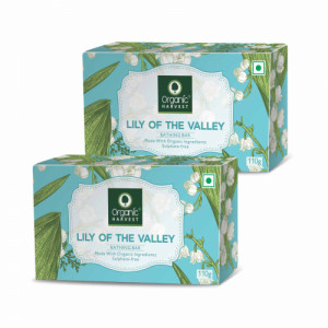 Organic Harvest Lily Of the valley Bathing Bar, 110gm (Pack Of 2)