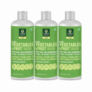Organic Harvest Vegetables & Fruit Wash, 200ml (Pack Of 3)