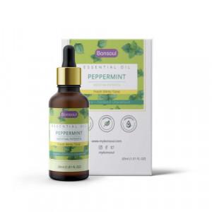 Bonsoul Organic Peppermint Essential Oil, 30ml