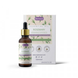 Bonsoul Organic Rosemary Essential Oil, 20ml