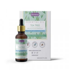 Bonsoul Wild Crafted Organic Tea Tree Essential Oil, 20ml