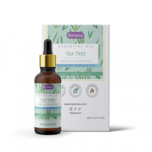 Bonsoul Wild Crafted Organic Tea Tree Essential Oil, 30ml