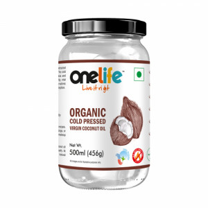 Onelife Organic Wet Milled Cold Pressed Virgin Coconut Oil, 500ml