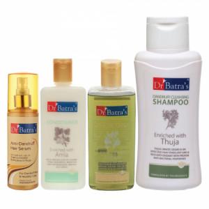 Dr Batra's Anti Dandruff Hair Serum, Conditioner, 200ml, Hair Oil, 200ml and Dandruff Cleansing Shampoo, 500ml