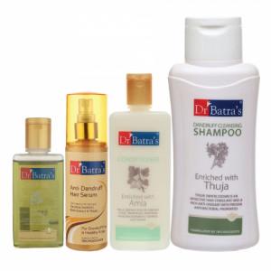 Dr Batra's Anti Dandruff Hair Serum, Hair Oil, Conditioner and Dandruff Cleansing Shampoo