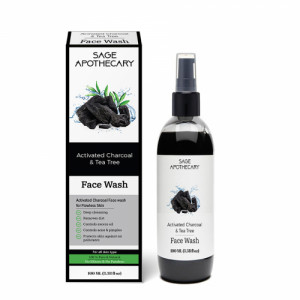 Sage Apothecary Activated Charcoal Face Wash, 100ml