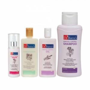 Dr Batra's Hair Fall Control Serum, 125ml, Conditioner, 200ml, Hair Fall Control Oil, 200ml With Hair Fall Control Shampoo, 500ml Combo Pack