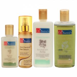 Dr Batra's Anti Dandruff Hair Serum, Conditioner, 200ml, Hair Oil, 200ml and Dandruff Cleansing Shampoo, 100ml
