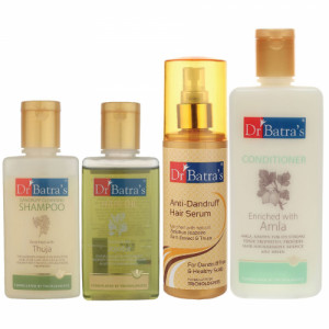 Dr Batra's Anti Dandruff Hair Serum, Conditioner, Dandruff Cleansing Shampoo and Hair Oil