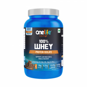 Onelife Chocolate Whey Protein Isolate Microfiltered, 1Kg