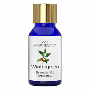 Sage Apothecary Wintergreen Essential Oil, 10ml