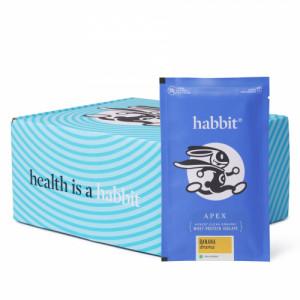 Habbit Apex Whey Isolate Protein Powder Banana Drama Flavour, 900gm (30 Servings)