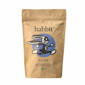 Habbit Nude Whey Protein Unflavoured Isolate, 450gm