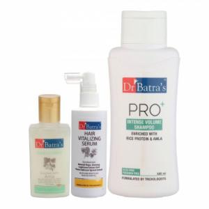 Dr Batra's Hair Vitalizing Serum, 125ml & Conditioner, 100ml with Pro+ Intense Volume Shampoo, 500ml Combo Pack