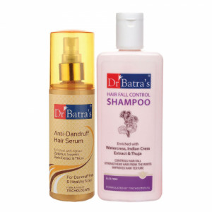 Dr Batra's Anti Dandruff Hair Serum With Hairfall Control Shampoo, 200ml Combo Pack