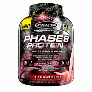 Muscletech Phase 8 Whey Protein Powder Strawberry, 2.09kg