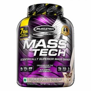 Muscletech Mass Tech Elite Muscle Builder Powder Cookies & Cream, 3.18kg