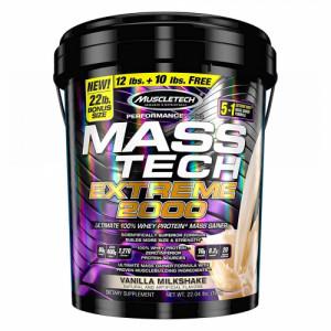Muscletech Mass Tech Extreme 2000 Protein Powder Vanilla, 10kg