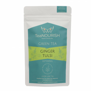 TeaNOURISH Ginger Tulsi Darjeeling Green Tea, 100gm