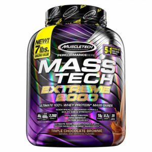 Muscletech Mass Tech Extreme 2000 Whey Protein Powder Chocolate, 3.17kg