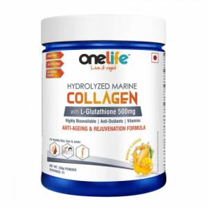 Onelife Hydrolysed Marine Collagen Powder, 250gm