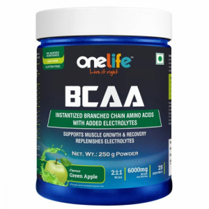 Onelife BCAA Green Apple, 250gm