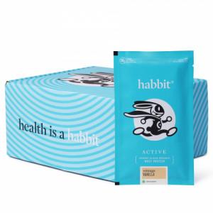 Habbit Active Whey Blend Protein Powder Vintage Vanilla Flavour, 900gm (30 Servings)