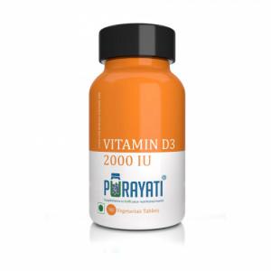 Purayati Vitamin D3 (2000 IU), 90 Tablets