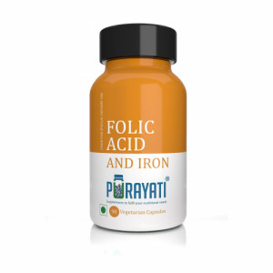 Purayati Folic acid and Iron, 90 Capsules