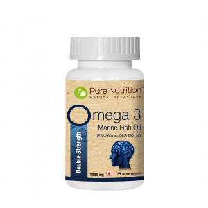 Pure Nutrition Omega 3 Marine Fish Oil, 75 Capsules