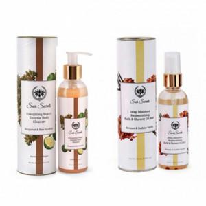 Seer Secrets Bergamot & Raw Shower Oil + Benzoin & Gudalur Vanilla Shower Oil Combo Pack