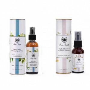 Seer Secrets Face & Beard Softening Spritz Wash + Big Red Beard Oil Combo Pack