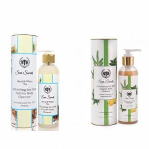 Seer Secrets Refreshing Soy Milk Enzyme Body Cleanser + Stimulating Soy Milk Enzyme Body Cleanser Combo Pack
