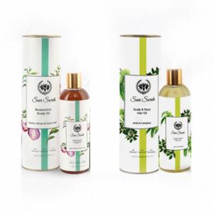 Seer Secrets Restorative Scalp Oil and Scalp & Root Hair Oil Combo Pack