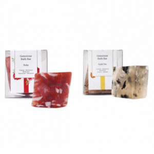 Seer Secrets Ruby Gemstone Bath Bar + Gold Ore Gemstone Bath Bar Combo Pack