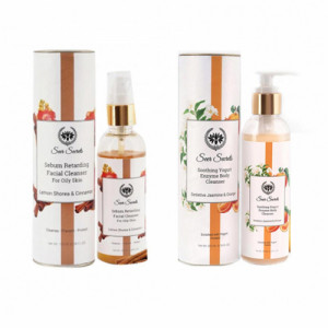 Seer Secrets Sebum Retarding Facial Cleanser + Soothing Yogurt Enzyme Body Cleanser Combo Pack