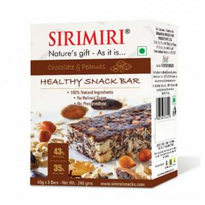 Sirimiri Chocolate & Peanuts Nutrition Bar, 40gm (Pack Of 6)
