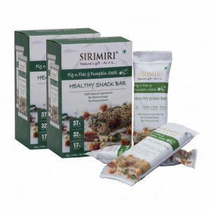 Sirimiri Fig N Flax & Pumpkin Seeds Nutrition Bar, 40gm (Pack Of 12)