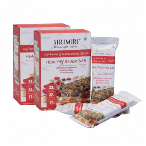 Sirimiri Goji Berries & Blackcurrants Nutrition Bar, 40gm (Pack Of 12)