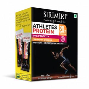 Sirimiri Probiotic Athletes Cranberry & Orange Protein Bar, 65gm (Pack Of 6)