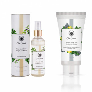 Seer Secrets Heat Absorbing Body Mist and Active Silver Lon Deodorant Cream Combo Pack