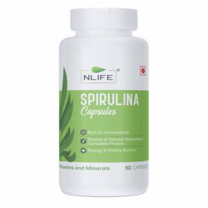 Nlife Spirulina, 90 Capsules
