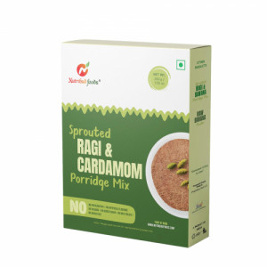 Nutribud Foods Sprouted Ragi & Cardamom Porridge Mix, 200gm