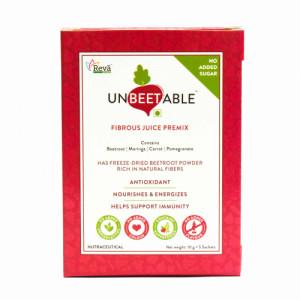 Unbeetable Fibrous Juice Premix - No Added Sugar, 5 Sachets