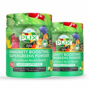 Plix Life Immunity Boosting Supergreens Powder, 200gm (Pack Of 2)