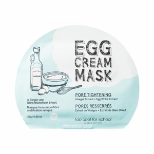 Too Cool for School Egg Cream Mask Pore Tightening, 28gm