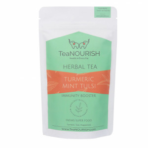 TeaNOURISH Turmeric Mint Tulsi Herbal Tea, 50gm